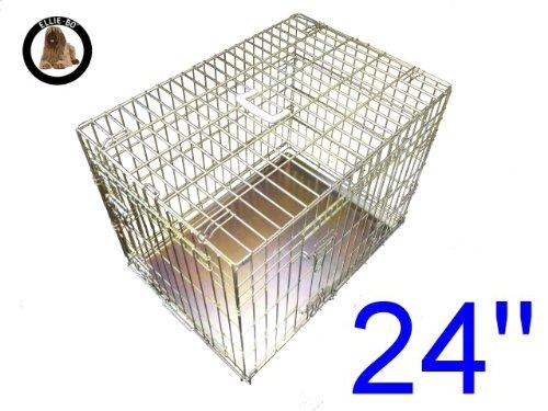Artikelbild: Ellie-Bo Käfig für Welpen/Hunde, Metallplatte mit Kauschutz, 2Türen, GrößeS:, 61cm, goldfarben