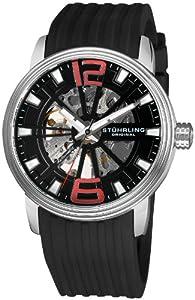 Reloj Stuhrling Original 1078.33161 automático para hombre con correa de caucho, color negro de Stuhrling Original