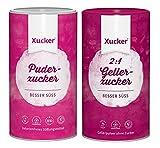 Xucker - Puderxucker (700 g) + Gelierxucker 2:1 (1 kg) natürliche Zuckeralternative