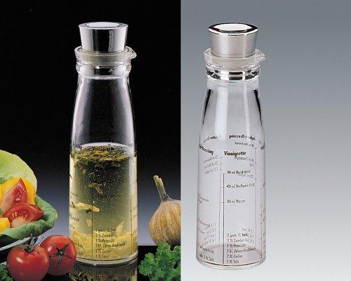 Küchenprofi Dressingshaker mit Deckel aus Edelstahl, Kunststoff, Silber/transparent (Tupperware-shaker-flasche)