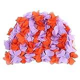 Wingbind Frauen-Schwimmen-Kappe, Mädchen-Schwimmen-Hut-Damen-Badekappe mit den gespleißten Blumen, Retro- Weinlese-stilvolles, breathable bequemes trocknen schnell