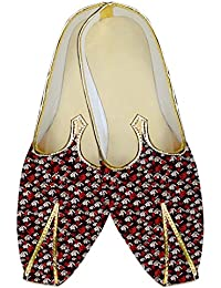 Mens Maroon Wedding Shoes White and Red Design MJ014442