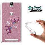 Becool® Fun - Funda Gel Flexible para Elephone P8000, Carcasa TPU fabricada con la mejor Silicona, protege y se adapta a la perfección a tu Smartphone y con nuestro exclusivo diseño. Pájaros volando libres