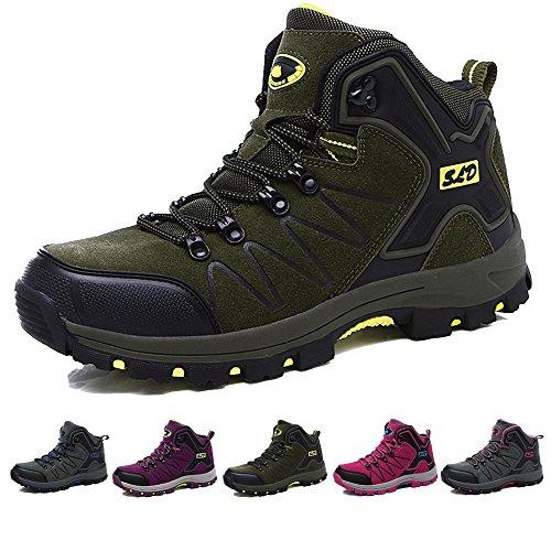 TUCSSON Herren/Damen Wasserdichte Wanderschuhe Wanderstiefel Bergsteifel Sportlich Bequem Outdoor Walking Wandern Trekking Schuhe(Size 35-44)