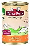 Terra Pura Bio Geflügeltopf 400 g Hunde- und Katzenergänzungsfutter, 12er Pack (12 x 400 g)