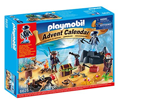 Playmobil 6625 Christmas Pirate Treasure Island Advent Calendar Playset