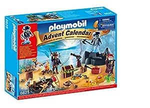 Playmobil 6625 - Calendario dell'Avvento, Tesoro Segreto dei Pirati, 40 Pezzi