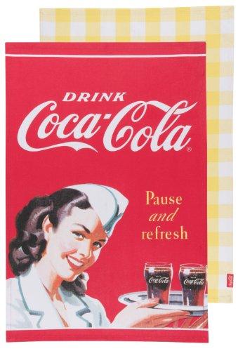 Coca- Cola présentée par Now Designs Linge à vaisselle, Lot de 2