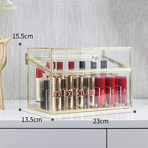 JUZEN Lippenauflagen, Crystal Transparent Lip Gloss Display Case, Lip Glaze Display Stand, Protective Cover Storage Lip Liner, 24 Spaces, 40 Spaces,40 -