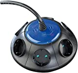 revolt Stromverteiler: Runde 6-fach Steckdose mit Netzfilter und Überspannungsschutz (Steckdosenleiste Überspannung)