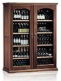 Ip Industrie - Cantina climatizzata legno massello due porte in doppio vetro 2 celle indipendenti capienza 276 bottiglie