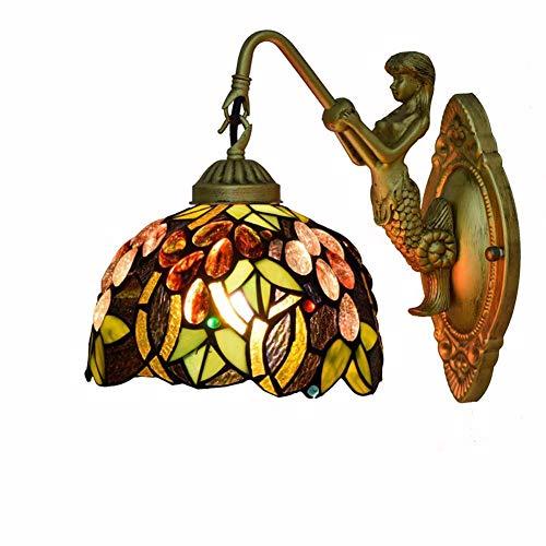XNCH Lámpara de Pared de Estilo Tiffany