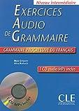 Image de Exercices audio de la grammaire progressive du français - Niveau intermédiaire - Livre + CD