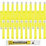Cyalume SnapLight Knicklichter in Gelb (30-er Pack) - 15 cm Glow Sticks mit Haken am Ende - ultra...