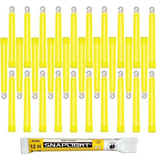 Cyalume SnapLight Gelb KnickLichter Glow Sticks – 15cm 6 Inch Industrial Grade Leuchtstab, Ultra helle Light Sticks mit Leuchtdauer 12 Stunden (30-er Pack)