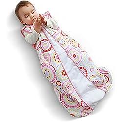 i-baby Gigoteuse Bébé Turbulette Sac de Couchage Coton Couverture Enveloppante Naissance Fille Garcon 6 12 18 24 Mois Printemps Automne sans Manches 2.5 TOG 85cm pour Voiture Poussette Lit de Bébé