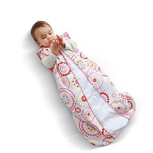 i-baby Gigoteuse Bébé Turbulette Sac de Couchage Coton Couverture Enveloppante Naissance Fille Garcon 6 12 18 24 36 Mois Printemps été sans Manches 85cm pour la Voiture Poussette Lit de Béb