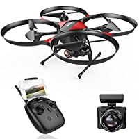 DROCON Traveler Beginner Drone with Optical Anti-Shake HD FPV Camera 1280 x 720P UDI U818PLUS Altitude Hold Stable Quadcopter TF Card 4GB Included from UDI RC