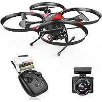 DROCON Drone Helicoptère télécommandé U818PLUS caméra HD anti-vibration 1280 x 720P Mode sans Tête Altitude Hold Mode Convient pour les débutants