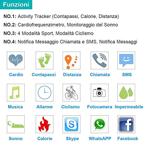 Zoom IMG-1 willful fitness tracker orologio braccialetto