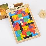 MEI Enfants Jouets Enfants Blocs Tetris Puzzle Enfants Blocs En Bois Jouet Taille Du Produit: 11.2in * 6.9in