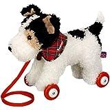 Funny Animal Parade Foxterrier Pull Along Dog, 27 cm, Model# 10446