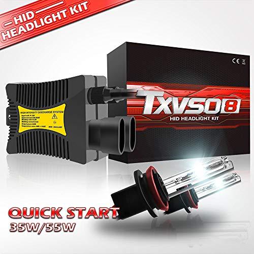 YuCar H8/H9/H11 Auto Kits HID 12000LM Ersatz-Kit für Halogen-Xenon, 6000K Weiß, 110W, für alle H8/H9/H11-Modelle geeignet, 2 Teile/Satz -
