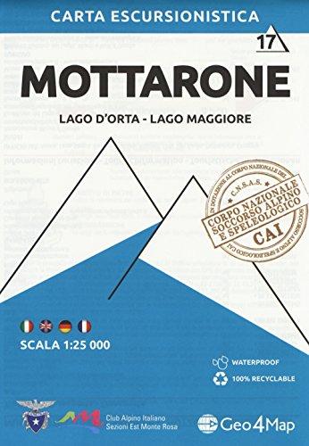 Carta escursionistica Mottarone. Scala 1:25.000. Ediz. italiana, inglese, tedesca e francese: 17