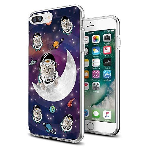 Cocomong Schutzhülle für iPhone 8 Plus/iPhone 7 Plus, amerikanische Flagge, transparent, iPhone 7p/8p, Galaxy cat 1