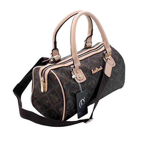 Designer Bowlingtasche von Giulia Pieralli - Handtasche , Umhängetasche , Schultertasche ( Coffee Beige ) - präsentiert von ZMOKA®