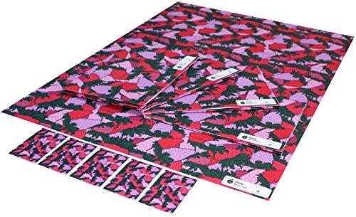 re-wrapped-1-feuille-avec-2-assorti-swing-etiquettes-de-papier-cadeau-papier-cadeau-danniversaire-re