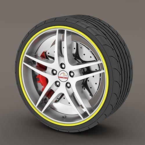 Rimblades Legierung Rad Edge Ring Felge Protektoren Reifen Reifen Schutz Gummi Form - Gelb Rimblades -