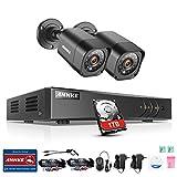 ANNKE Kit de Seguridad 4CH DVR TVI 1080P Lite y 2 Cámaras de vigilancia con 1TB Disco Duro de vigilancia(H.264+ CCTV Detección de Movimiento Email Alarma IP66 Impermeable)