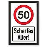 DankeDir! 50 Jahre Scharfes Alter, PVC Schild - Geschenk 50. Geburtstag, Geschenkidee Geburtstagsgeschenk Zum Fünzigsten, Geburtstagsdeko/Partydeko/Party Zubehör/Geburtstagskarte
