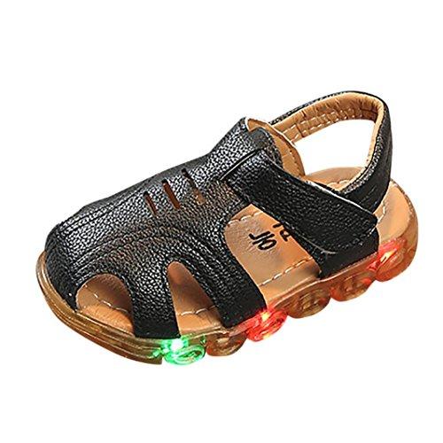 Girls Boys Sandals , IGEMY Summer Kid Boys Led Light Soft Leather Non-Slip Luminous Outdoor Sandals Shoes Led Light Sandals For Baby Boys