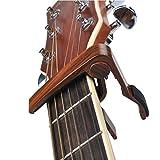 Capodastre de Guitare, Hmby Guitare Capo Guitar Capo Pour Guitare Acoustique et électrique, Ukulélé, Guitare, Banjo, Guitares Folk (bois de rose)
