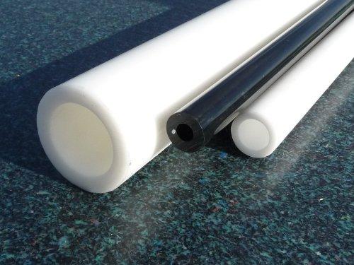 Hohlstab PTFE weiß Ø 20*10 mm, Lang 1000 mm Kunststoffrohr (Teflon) Rohr