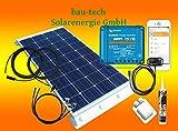 bau-tech Solarenergie 100Watt Wohnmobil Solaranlage mit Victron Laderegler und bluotooth smart Dongle GmbH