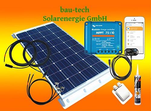 100Watt Wohnmobil Solaranlage mit Victron Laderegler und bluotooth smart Dongle von bau-tech Solarenergie GmbH