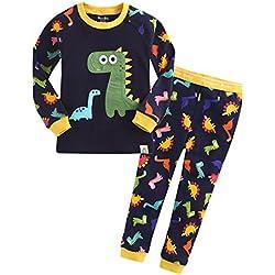 GWELL - Pijama dos piezas - para niño Dinosaurios X-Large