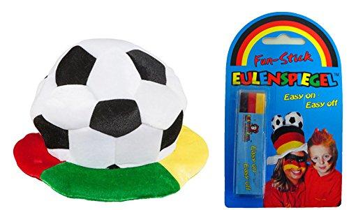 Fußball Fußballmütze WM Fanmütze Fanhut und Schminkstift Public Viewing
