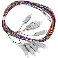 Cable de cable flexible de fibra SC/UPC, 3,8 cm Modo multiportador Nivel de fibra Paquete de 12 núcleos Cable flexible flexible Plug and Play 62.5/125 con carcasa de PVC