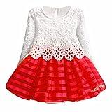 DAY8 Fille 2 à 7 Ans Vetement Robe Princesse mode Hiver Robe Soirée Fille Chic ete...