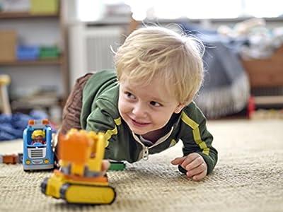 LEGO - 10812 - DUPLO - Jeu de Construction - Le Camion et La Pelleteuse