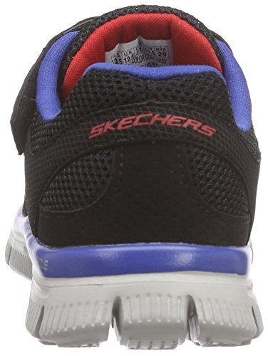 Skechers Flex AdvantageMaster Dash, Sneakers Basses garçon Noir - Schwarz (BKRY)