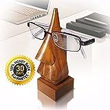 B&S Brillenständer in Form einer Nase, Holz, mit 2 Geschenkboxen