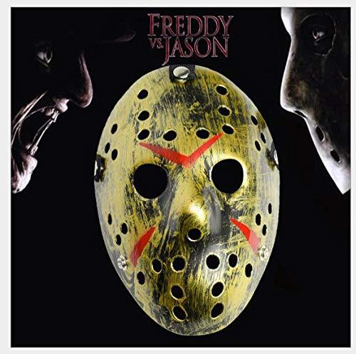 leegicst Erwachsene Jason Voorhees Freddy Maske, Festival Halloween Maskerade Realistische Prop Gesichtsmaske (Voorhees Gesicht Jason)