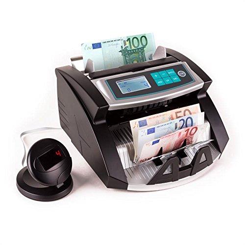 Duramaxx Buffett Geldscheinzähler und Geld-Prüfer (UV- IR- und magnetischer Geldschein-Prüfung, freie Zählung, Zählung von einstellbaren Stückmengen, zählt bis 1000 Scheine / Minute, für alle marktgängigen Geldscheine mit UV/MG-Merkmalen) schwarz