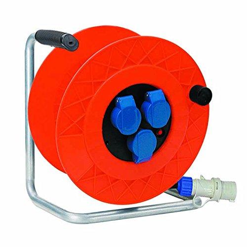 Fanton 11128 Avvolgicavo Industriale Cavo 3G2.50, Arancione, 30 m