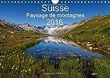 Suisse : paysage de montagnes 2016 : Un voyage à travers toutes les saisons en Suisse
